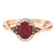 Rhodolite And Diamond Ring