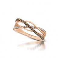 Crossover Chocolate And White Diamonds Diamond Ring