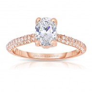 Rm1280vrs-14k Rose Gold Oval Cut Diamond Engagement Ring