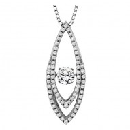 Rhythm of Love Diamond Pendant featuring 5/8 ctw diamonds in 14K Gold