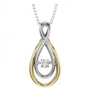 Rhythm of Love Diamond Pendant featuring 1/10 ctw diamonds in 14K Gold