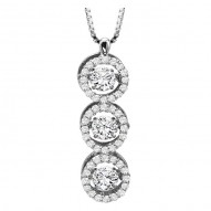 Rhythm of Love Diamond Pendant featuring 1.00 ctw diamonds in 14K Gold