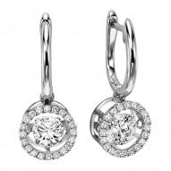 Rhythm of Love Diamond Earrings featuring 3/4 ctw diamonds in 14K Gold