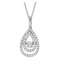 Rhythm of Love Diamond Pendant featuring 3/8 ctw diamonds in 14K Gold
