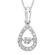 Rhythm of Love Diamond Pendant in 10K Gold