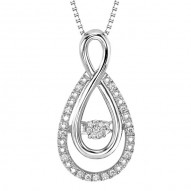 Rhythm of Love Diamond Pendant in Sterling Silver