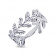 Diamond LEAF Ladies Ring