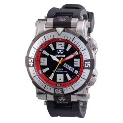 Red/Blk Dial Blk Rbbr Strap