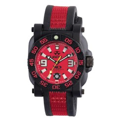Red Dial Red/Blk Lthr Strap