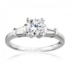 Me810-14k White Gold Engagement Ring From Nostalgic Collection