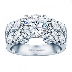 Rm1053-14k White Gold Classic Engagement Ring