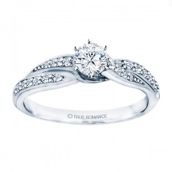 Rm1145-14k White Gold Infinity Engagement Ring