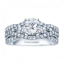Rm1431-14k White Gold Infinity Engagement Ring