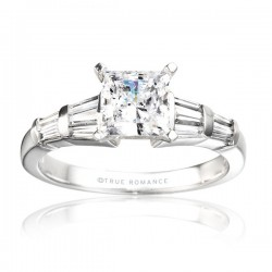 Rm380tt-14k White Gold Engagement Ring From Nostalgic Collection