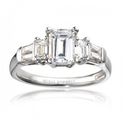 Rm456-14k White Gold Engagement Ring From Nostalgic Collection