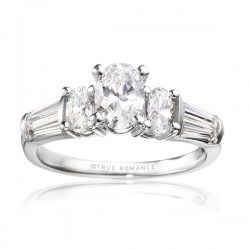 Rm510-14k White Gold Engagement Ring From Nostalgic Collection
