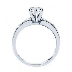 Rm946-14k White Gold Classic Engagement Ring