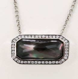 Ippolita Quartz and Diamond Sterling Pendant