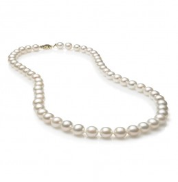 Fresh Water Pearl Strand Necklace with 7mm-8mm Pearls