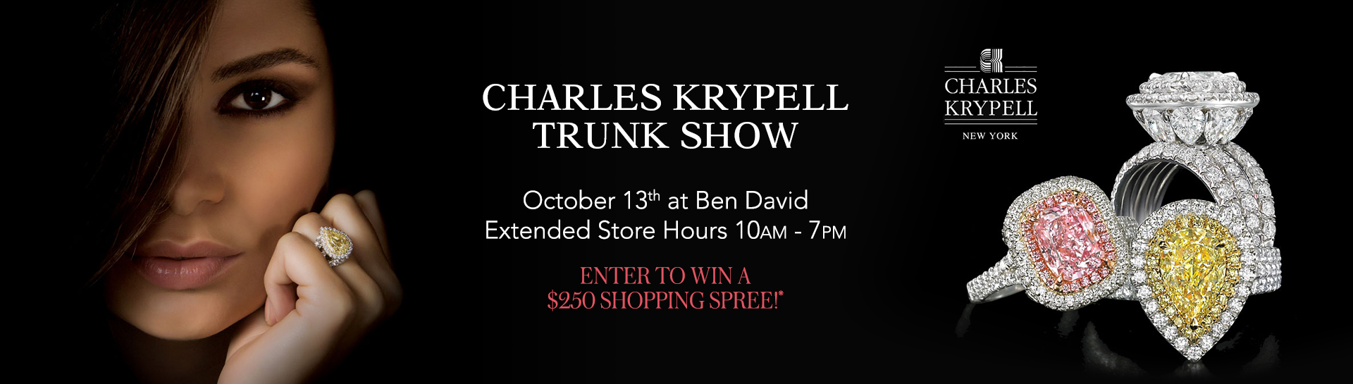 Charles Krypell Trunk Show October 13th