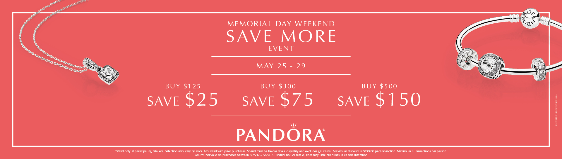 Pandora Buy More Save More!