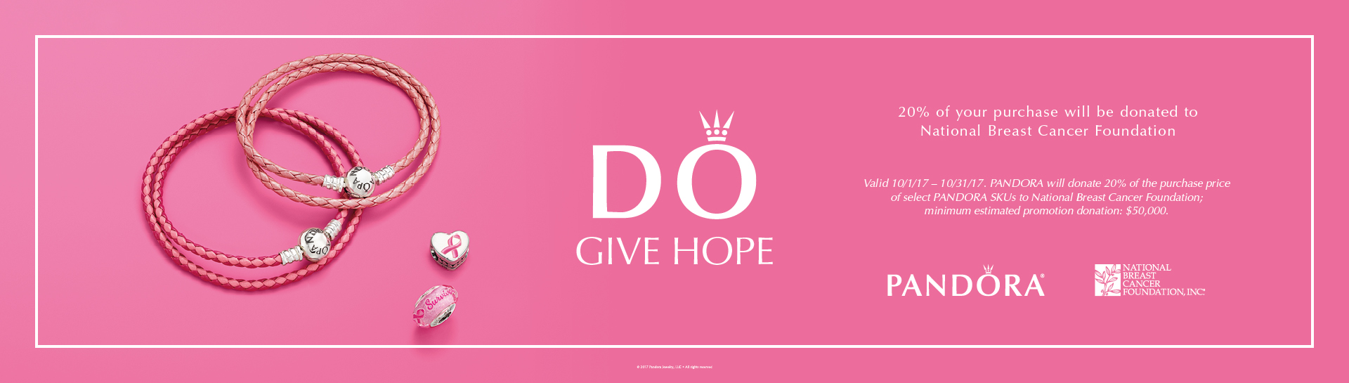Pandora Breast Cancer Awareness Month