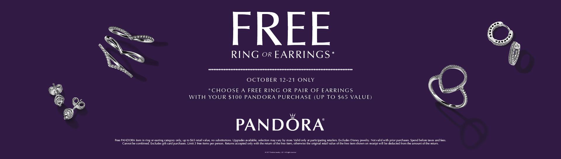 Pandora Free Earrings or Bracelet
