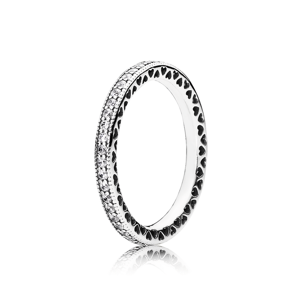 Hearts of Pandora Ring with Clear CZ