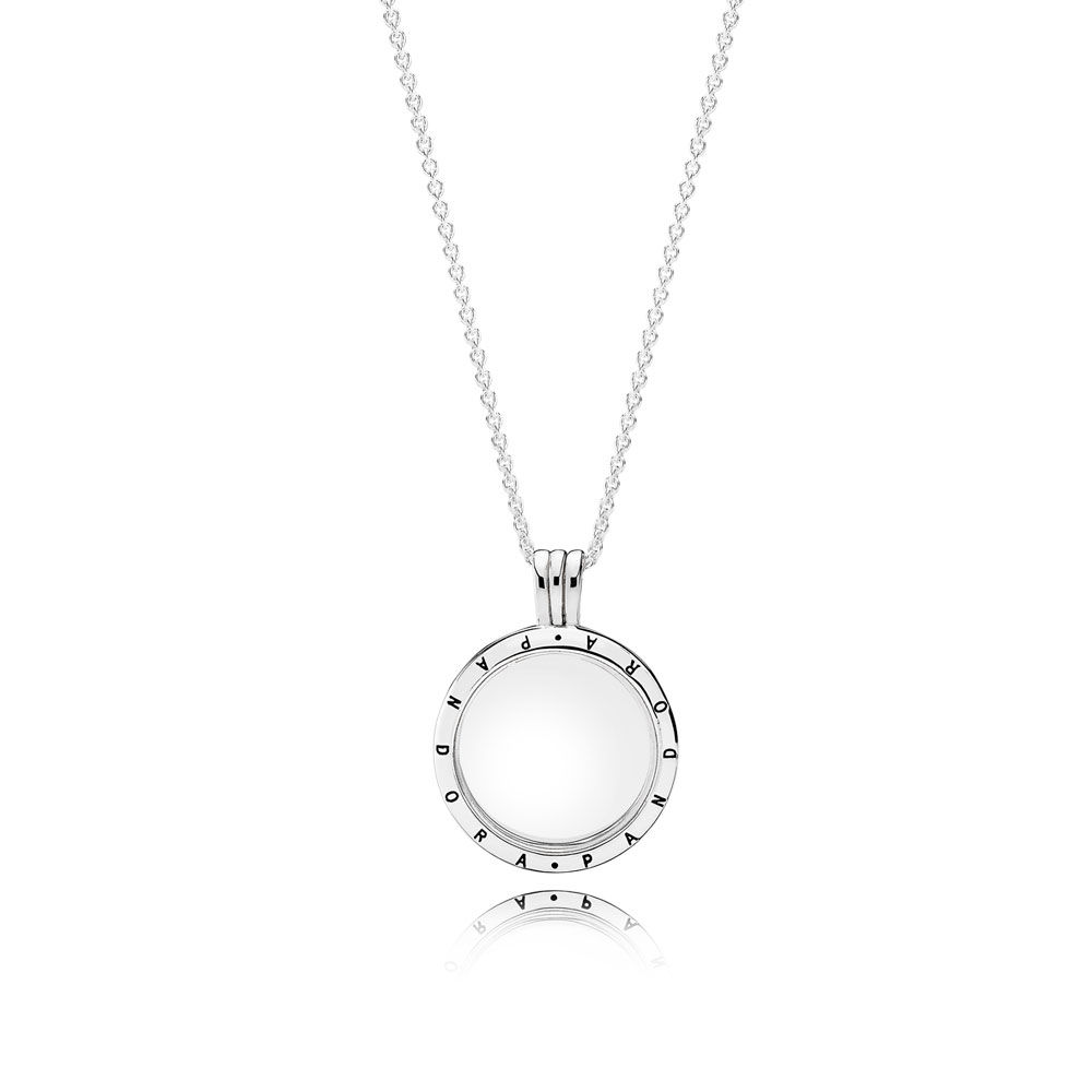 Pandora Signature Pendant with Clear CZ