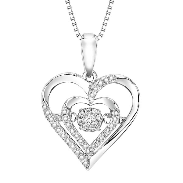 Rhythm of love diamond pendant in sterling silver rol1029 httpbendavidjewelersuploadproductrol1029 aloadofball Images